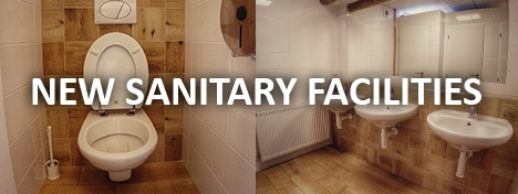 New sanitary facilities